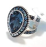 Brighton Raindrops Teardrop Blue Sapphire Size 7 Ring