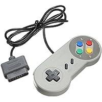 TRIXES Cojín de Juegos Retro Controlador de Reemplazo Compatible con SNES (Sistema de Entretenimiento Súper Nintendo)