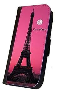 iPhone 6 Flip Case, Love Paris Eiffel Tower Moon Design, Wallet Case, Book Style Case, Bi-Fold Case, By Sublifascination, DOES NOT FIT THE IPHONE 6 PLUS