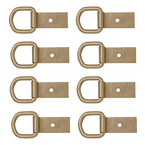 Multi-Pack of Flat Saddle Dee Rings with Clips, Used As A Crupper Or Breastcollar Attachment On A Riding Saddle, 1