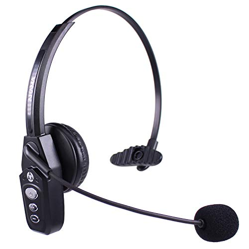 Arama JBT800 Trucker Bluetooth Headset V5.0, Noise Canceling Wireless Headset for Truck Driver, Call Center, Office, Gamers