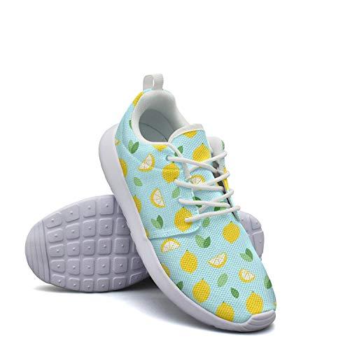 Peel Lemon Baseball (Breathable Women Lightweight Mesh Shoes Lemon Cartoon Green Sneakers Running Soft Sole)