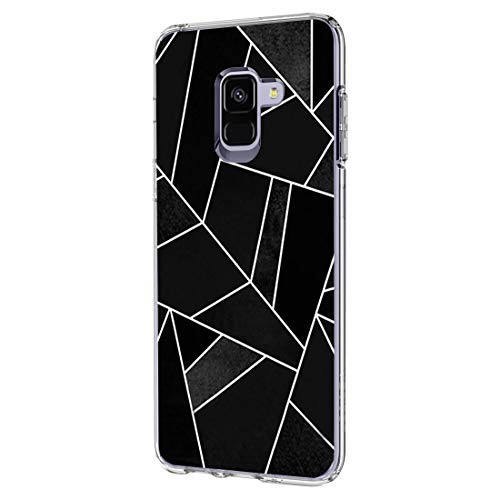 Case Compatible with Samsung Galaxy A6 Case Soft TPU Silicone Bumper Protection for Samsung A6 Plus - Splicing Design (1, A6)