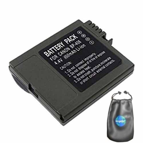 Digital Replacement Camera and Camcorder Battery for Canon BP-406, BP-407, BP-412 - Includes Lens Pouch