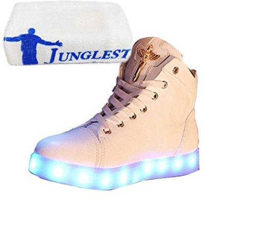 (Present:kleines Handtuch)JUNGLEST 7 Damen Farben LED Leuchtend Aufladen USB Aufladen Sport Schuhe Paare Schuhe Herbst und Winter Sport Schuhe Frei S1