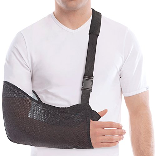 "TOROS-GROUP Arm & Shoulder Support Sling - Durable and Lightweight Material - Adult/Medium, Forearm 13""-16"" Black"