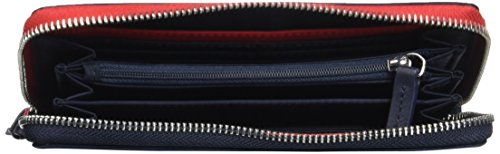 Tommy Hilfiger Poppy Lrg Za Wallet, Portafoglio Donna, Blu (Tommy Navy), 14 x 3.5 x 20 cm (W x H x L)
