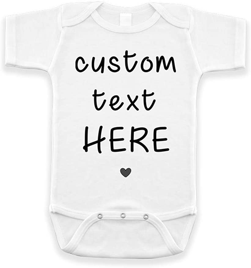 Logo Graphic custom text quote Personalized Infant Baby Rib Bodysuit  Customize With your photo