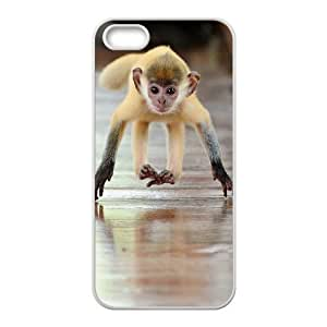 Diy Cute Monkey Phone Case For Ipod Touch 5 Cover White Shell Phone JFLIFE(TM) [Pattern-4]