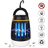Dkinghome Mosquito Zapper Light Insect Killer UV Lamp Camping Lantern LED 3 in 1 Insect Control Repellent Trap Portable Electric Waterproof USB Rechargeable - Black
