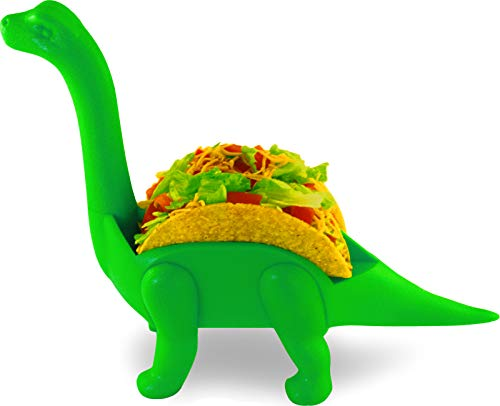EWR Dinosaur Taco Holder - Brachiosaurus (Long Neck Dino), Ultimate Prehistoric Taco Stand for Jurassic Taco Tuesdays and Dinosaur Parties- Holds 2 Tacos- Perfect Gift for the Kids! by EWR Products