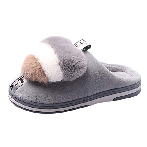Midress Home Slippers for Women Cute Flat Cotton Shoes Winter Thick Bottom Memory Foam Soft Cozy Indoor Shoes