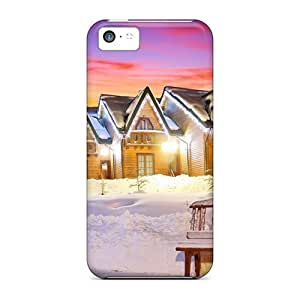 diy phone caseFor Iphone Cases, High Quality Village At Winter At Dusk For iphone 6 4.7 inch Covers Casesdiy phone case