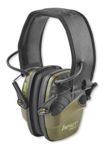 Howard Leight Impact Sport Electronic Earmuff - OD Green - NRR 22