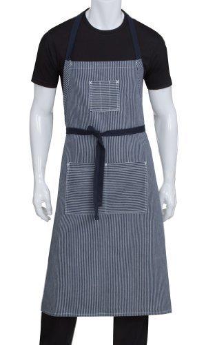 Chef Works AB038-IBL-0 Portland Adjustable Bib Apron, Indigo Blue by CHEGC