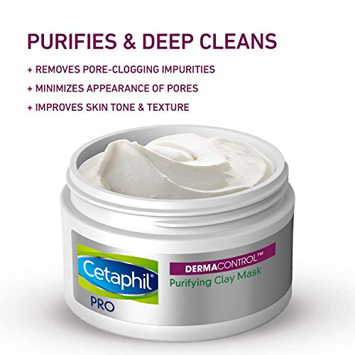 Cetaphil Pro Dermacontrol Purifying Clay Mask With bentonite Clay For Oily, Sensitive Skin, 3 Oz Jar 2