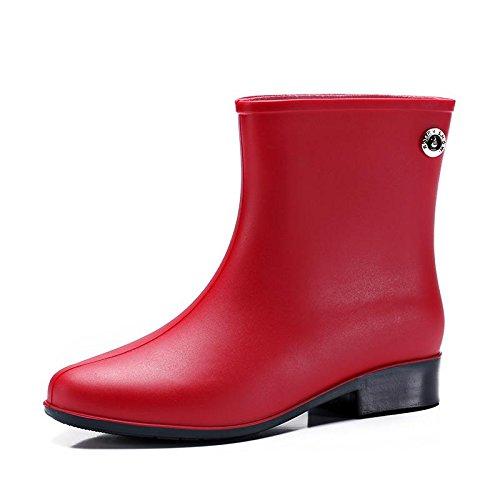 Scarpe Boots In Per Esterni Rain Shoes Black Pvc Welly Impermeabili Rubber Snow Garden Womens xUzqI0Wan