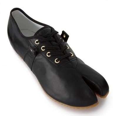ONITSUKA OKATABI LO Womens Onitsuka Tiger Okatabi Lo Le split toe black  leather trainer shoe Amazon.co. b71ed3cbfc247