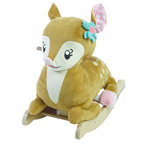 Baby Rocker, Educational, Fun Toys All Wrapped Up in Petals The Fawn Engraved with Your Child's Name in Choice of Colors