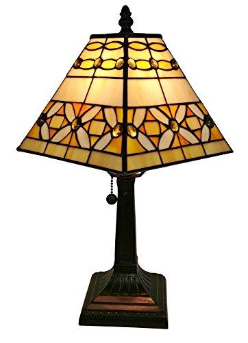 Amora Lighting Tiffany Style AM207TL08 Mission Jeweled Table Lamp, 8