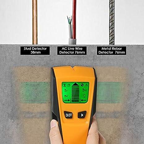 Fityle - Detector de pared de madera 3 en 1 con escáner múltiple, cable de CA en vivo, detector de metal portátil: Amazon.es: Amazon.es