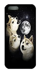 For Ipod Touch 4 Phone Case Cover Three Doge Moon HAC1014467 Custom PC Hard For Ipod Touch 4 Phone Case Cover Black