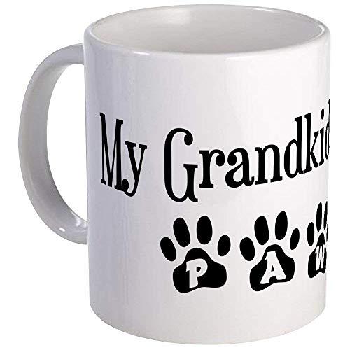 Have Paws Mugs - My Grandkids Have Paws Mug - Ceramic 11oz Coffee/Tea Cup Gift Stocking Stuffer