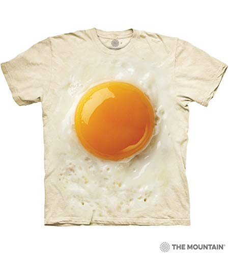 The Mountain Fried Egg Adult T-Shirt, Cream, Medium