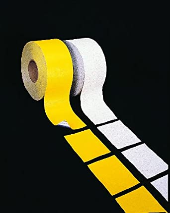 "Mutual 17792 Construction Grade Foil Backed Pavement Marking Adhesive Tape, 100 yds Length x 4"" Width, Yellow"