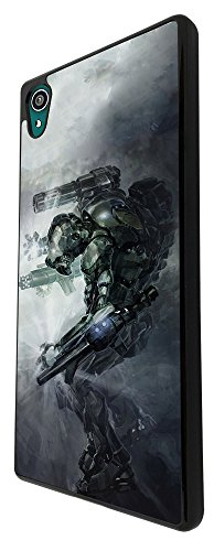002929 - Robot Fighter Transformer Virtual reality Design For Sony Xperia Z3 Fashion Trend CASE Back COVER Plastic&Thin Metal - Black