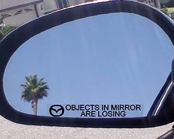 """Adhesivos de """"objetos en espejo están perdiendo de espejo (2) para Mazda"""