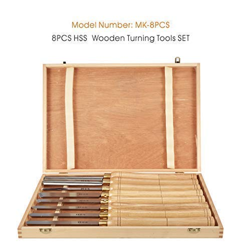 8pc HSS carbide turning tool woodworking wood lathe chisel