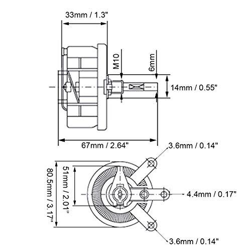 Uxcell 150 Ohm 100w High Power Ceramic Wirewound Potentiometer