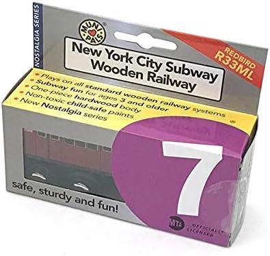 Munipals MP01-11RB MTA NYC Subway Flushing Local Wooden 7 Train Car Redbird
