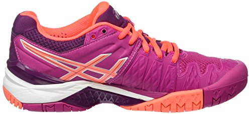 plum flash 6 2106 W Chaussures De Violet Asics Multicolore Tennis Femme resolution Coral Gel berry UPOBxWp