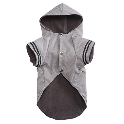Cashmere Storm Jacket - STOCO Pet Dogs Waterproof Raincoat Two Legs Costume with Cashmere Inner for Rain Days Puppy Windproof Adjustable
