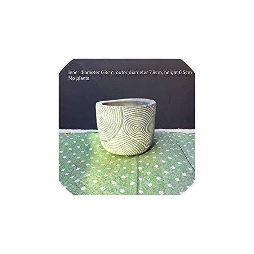 (Cement Garden Pots Minimalist Geometric White Ceramic Succulent Plant Vase Bonsai Planter Porcelain Flower Pot Home Decor A $,18)