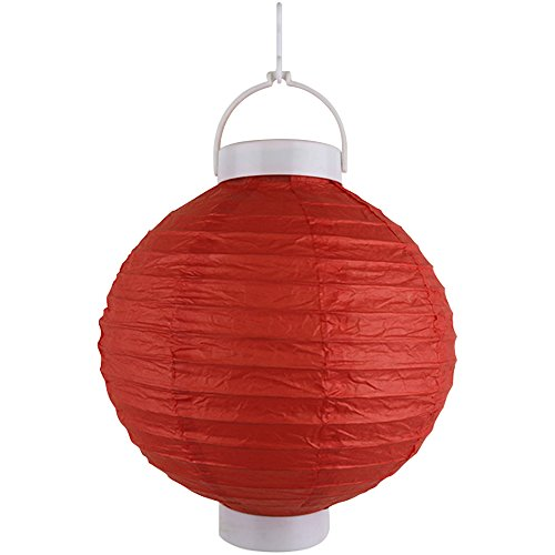 Just-Artifacts-8-Round-Battery-Powered-LED-ChineseJapanese-Decorative-Paper-Lantern-Color-Red