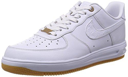 Nike Men's Lunar Force 1 '14 Prm Qs White/White/White Basketball Shoe 11 Men US