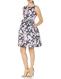 Women's Sleeveless Bow Waist Floral Dress
