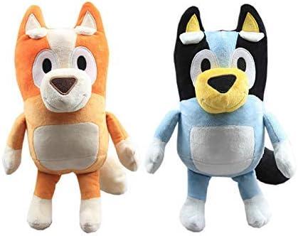ANLEVO Juguete de Peluche Juego de 2 Piezas 28 cm Perros de Dibujos Animados Peluche de Peluche Animales de Peluche Bluey Party Dolls Baby Toys Regalo para niños