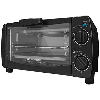 Toastmaster TM-101TR 4-Slice Toaster Oven, 10-Litre, Black