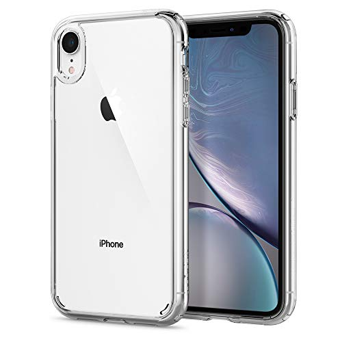 Solid Red Glass - Spigen Ultra Hybrid Designed for Apple iPhone XR Case (2018) - Crystal Clear