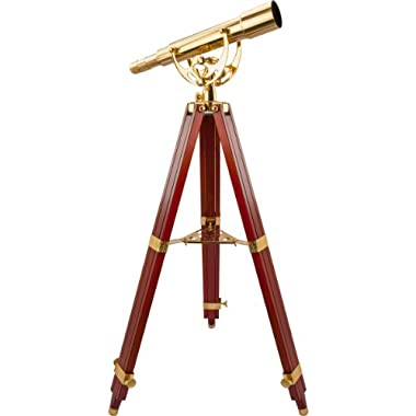 BARSKA Anchormaster 15-45x50 Spyscope w/ Mahogany Floor Tripod