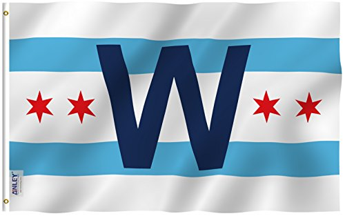Anley |Fly Breeze| 3x5 Foot Chicago Cub Win Combo Flag - Viv