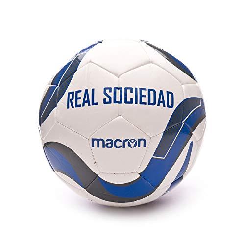 Macron Real Sociedad 2019-2020, Balón, White-Blue, Talla 5: Amazon ...