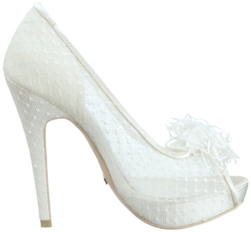 Adelia Women's Ivory Wedding Bridal Menbur HA4YwqEnB