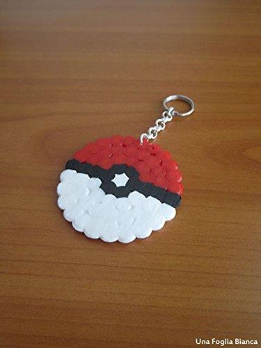 Hama beads llaveros pokeball pokemon pixel art handmade ...