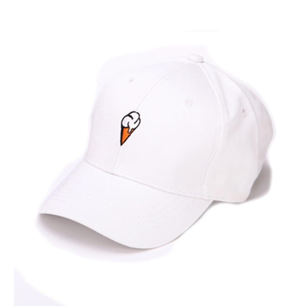 alimaoメンズレディースPeaked帽子Hiphop Curvedストラップバックスナップバック野球キャップ調整可能 B071PDLGJ7ホワイト