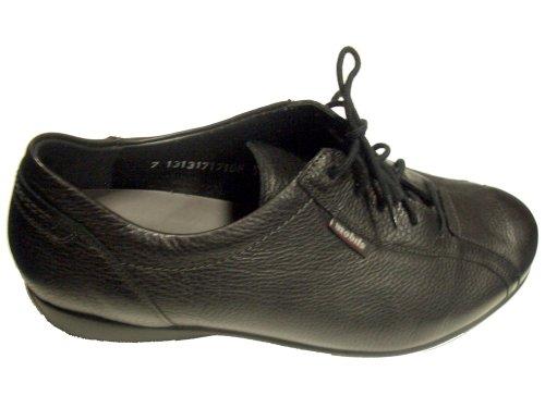Mephisto Womens Lace - Mephisto Mobils SABI Black Leather Lace-Shoe for Women (5.5(UK) 8(US))
